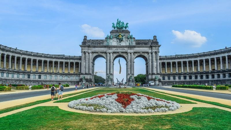 Gapura Kemenangan di Taman Cinquantenaire di ibu kota Belgia, Brussel.