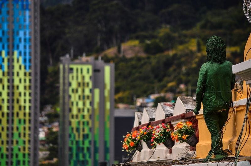Lanskap perkotaan Bogotá, Kolombia.