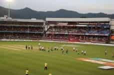 Cricket stadium in India.