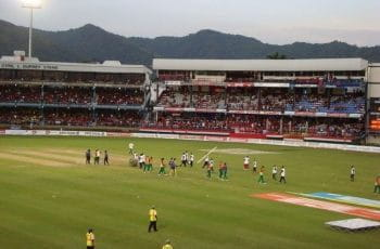Cricket stadium in India.