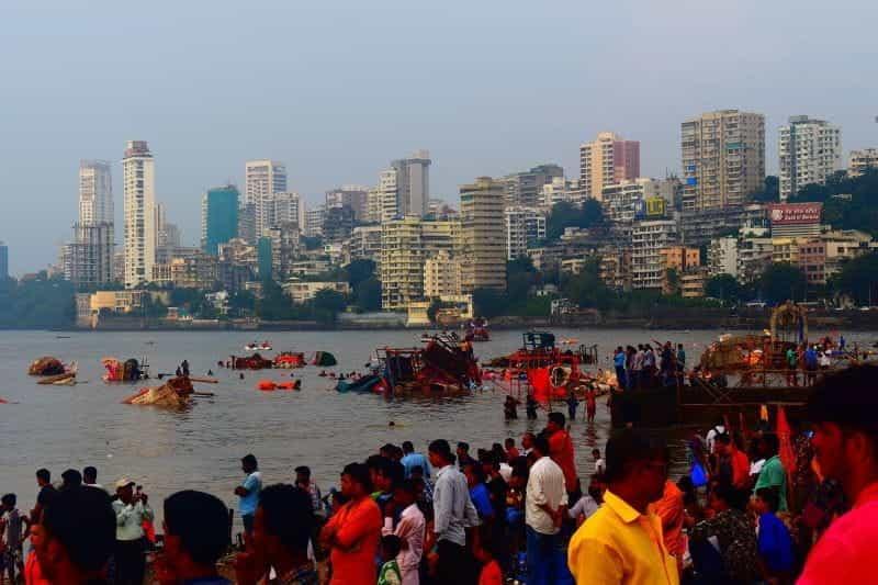 Pemandangan kota Mumbai.