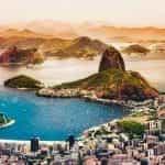 The coastline of Rio de Janeiro, Brazil.