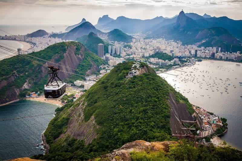 Cakrawala kota Rio de Janeiro, Brasil.