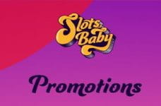 """The SlotsBaby logo and the word """"promotions""""."""