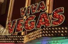 A neon sign reading Viva Vegas.