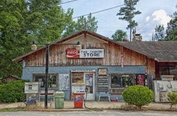 A country store in Choctaw Bluff, Alabama.