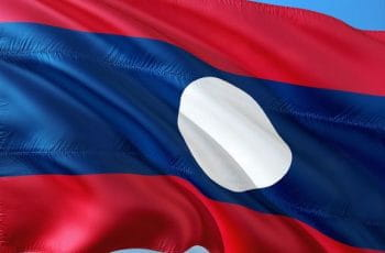 Laos country flag.