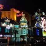 The Las Vegas Strip at night.