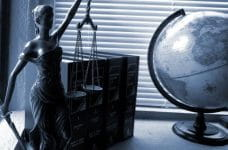 Lady justice and the law.