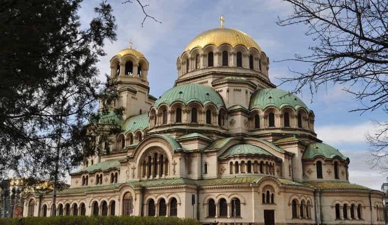 Katedral St. Alexander Nevsky di ibu kota Bulgaria, Sofia.