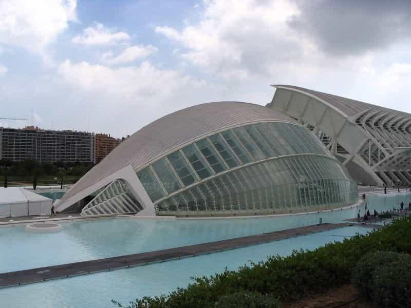 Arsitektur modern di Valencia, Spanyol.