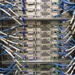 Rak server jaringan.