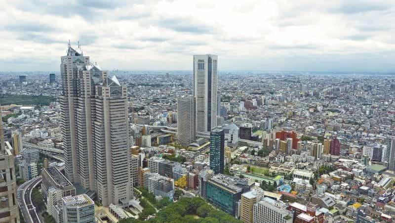 Tokyo skyline siang hari.