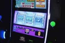 Slot machine in casino.