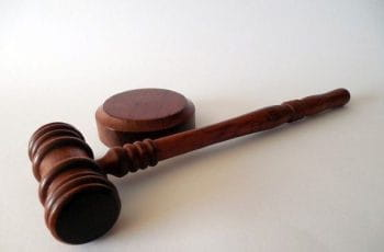 An auctioneer's wooden gavel.