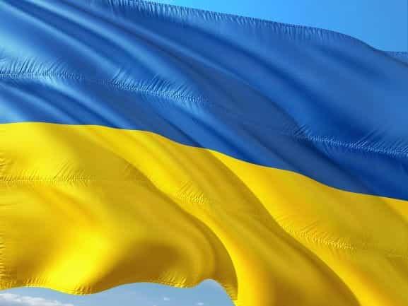 Bendera internasional Ukraina.