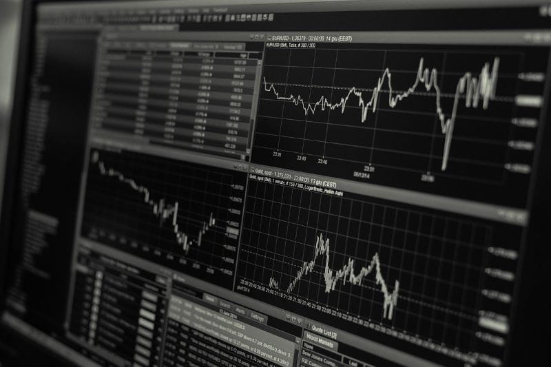 Indeks saham online yang menampilkan pola saham.