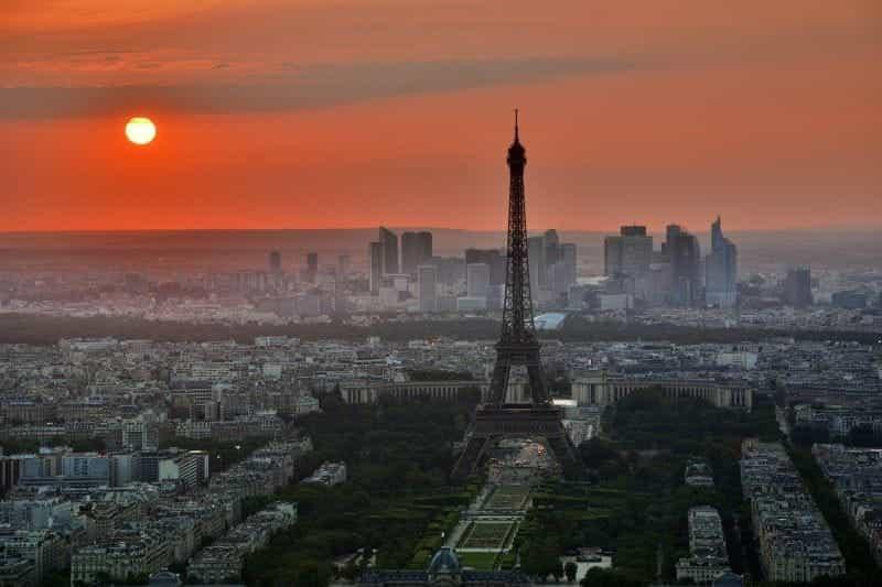 Cakrawala arsitektur Paris.