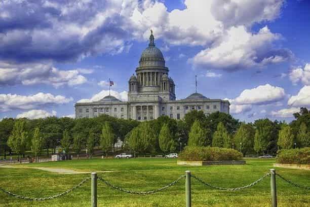 Gedung Capitol Pulau Rhode di ibu kota negara bagian Providence.