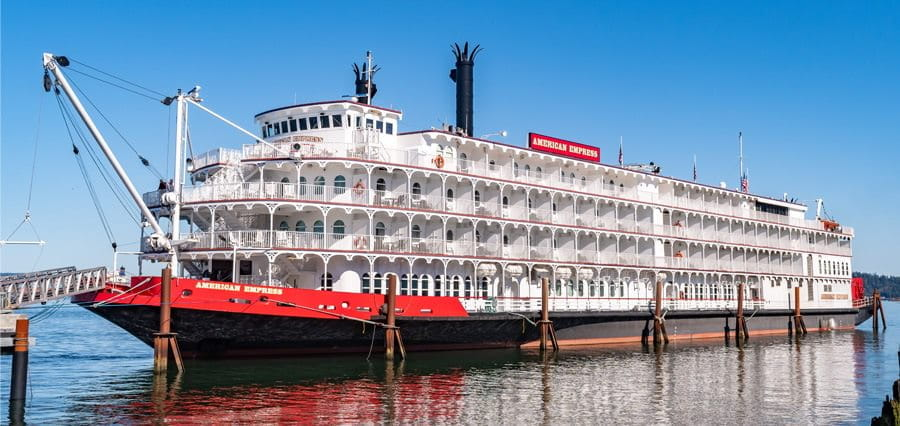 A riverboat casino.