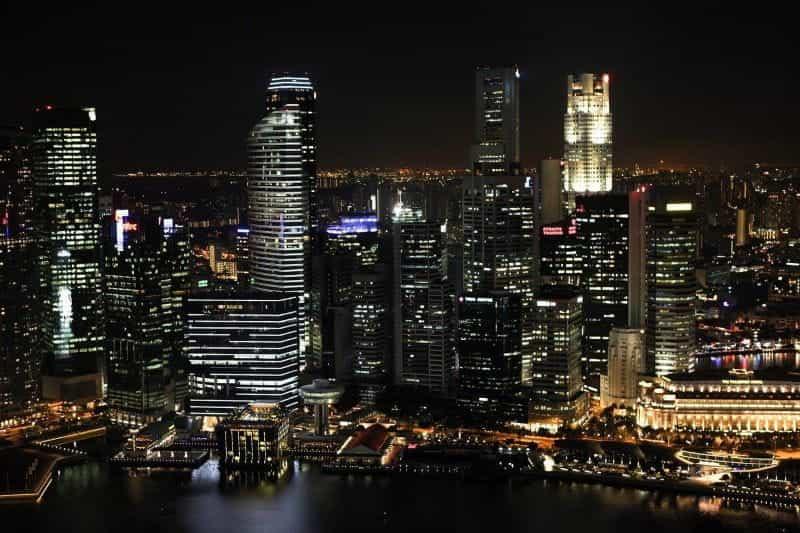 Cakrawala kota Singapura.
