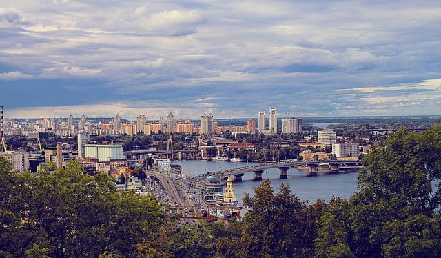Tembakan Panorama Kiev.