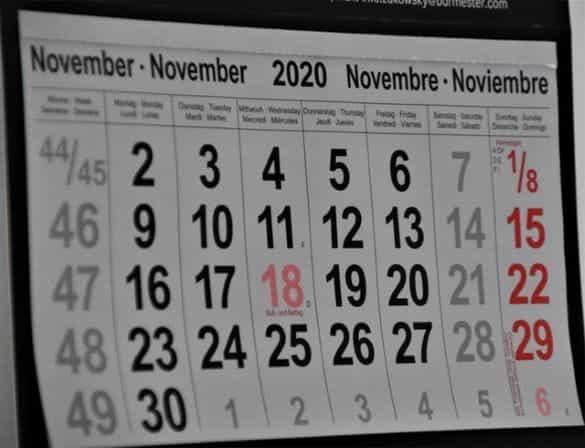 Kalender Dinding November 2020.