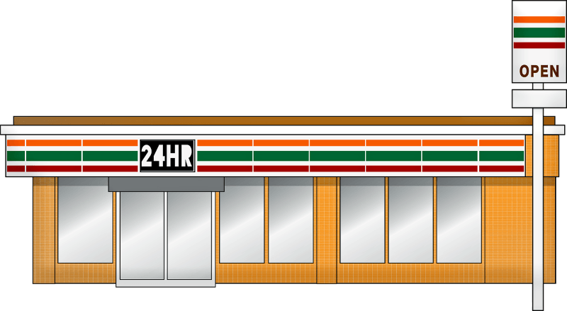 Toko serba ada khas Amerika, meniru model 7-Eleven.
