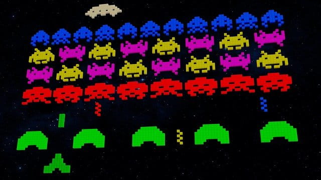 Video Game Retro, Space Invaders.