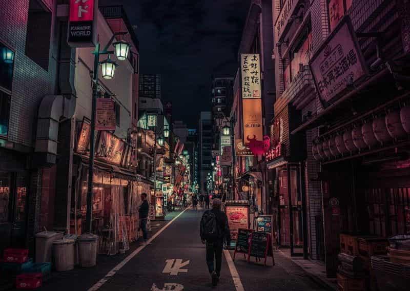 Jalan Shinjuku di Malam Hari.