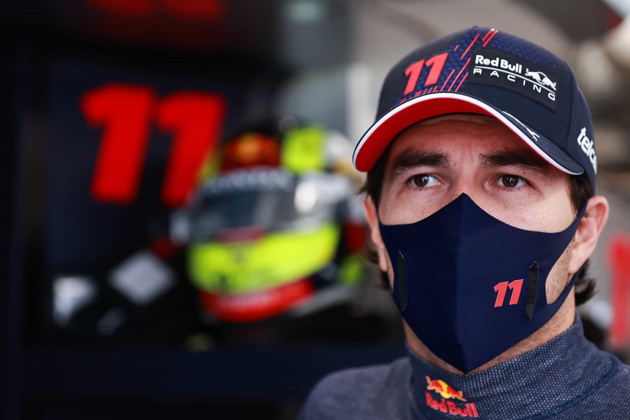 Pembalap Red Bull, Sergio Perez.