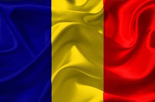 Bendera Rumania.