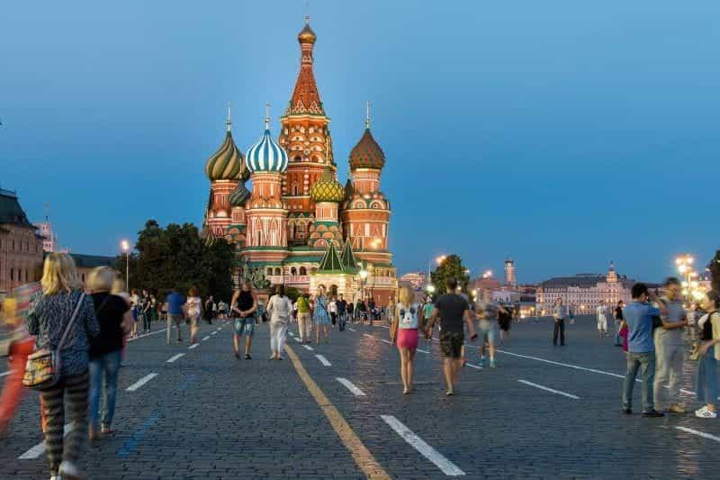 Lapangan Merah di Moskow.