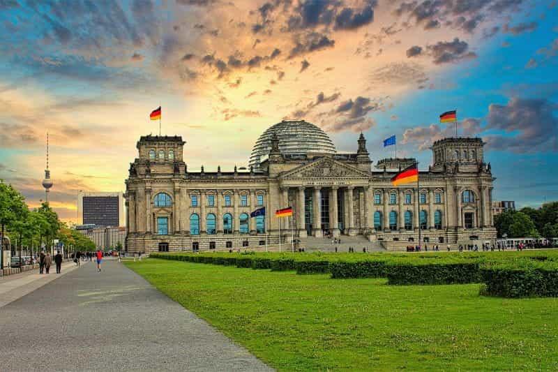 Gedung Reichstag, Berlin.
