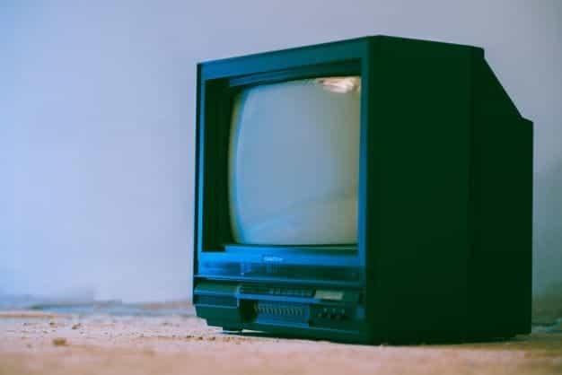TV retro kecil.